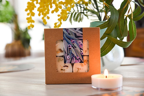 Luxury Candle 4 Pack Set- Blue Gum Eucalyptus and Lemon Myrtle