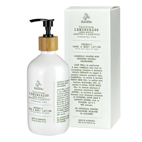 Lemongrass, Lemon Myrtle, Grapefruit & Eucalyptus  Organic Hand & Body Lotion