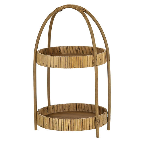 Natural Harvest Wicker 2 Tier Tray
