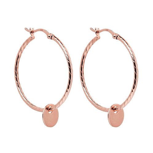 Cayman Hoop Rose Earring
