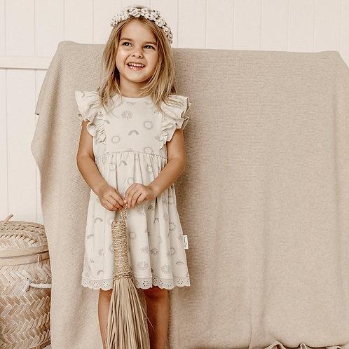 Aster & Oak Organic Cotton - Sunny Daze Ruffle Dress