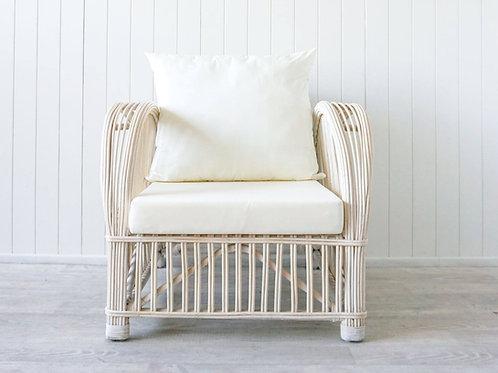 Coastal Occasional Chair - Recline - White Wash