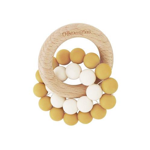 Turmeric   Eco-Friendly Teether   Organic Beechwood Silicone Toy