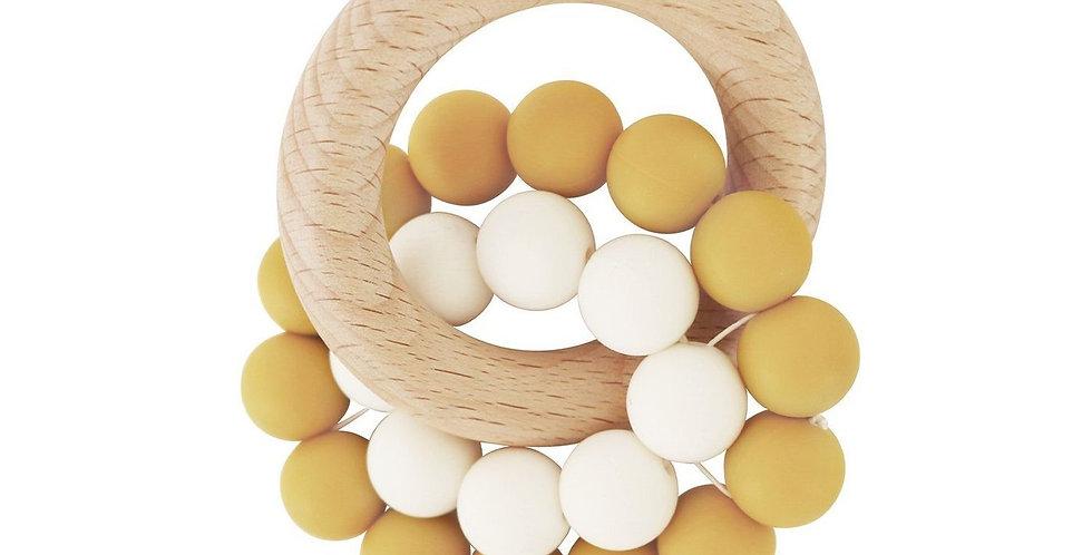 Turmeric | Eco-Friendly Teether | Organic Beechwood Silicone Toy