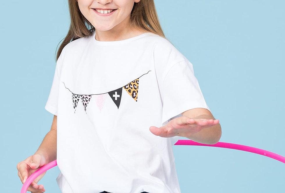 Stella & Gemma Kids Mini Eden T Shirt White Garland