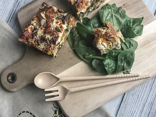 Sweet Potato, Feta & Hazelnut Frittata