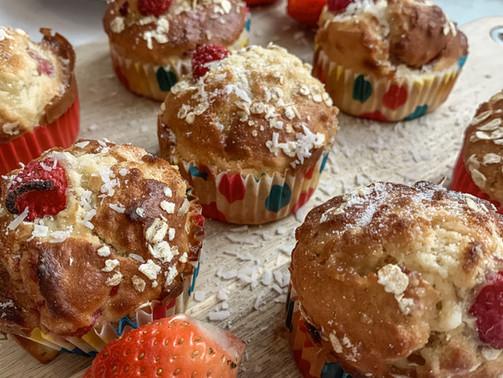 White Chocolate & Raspberry Muffins