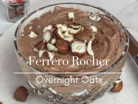 Ferrero Rocher Inspired Overnight Oats