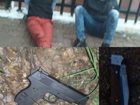 Two armed robbers apprehended after failed robbery attempt!