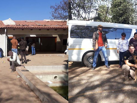 CAP together with SAPS, The City of Joburg and Social services conduct a successful Clean-Up Operati