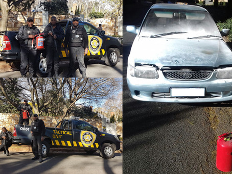 Westcliff vehicle fire doused by quick thinking CAP Tactical Officers