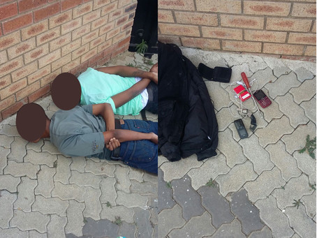Two suspects apprehended following armed robbery public in Lyndhurst