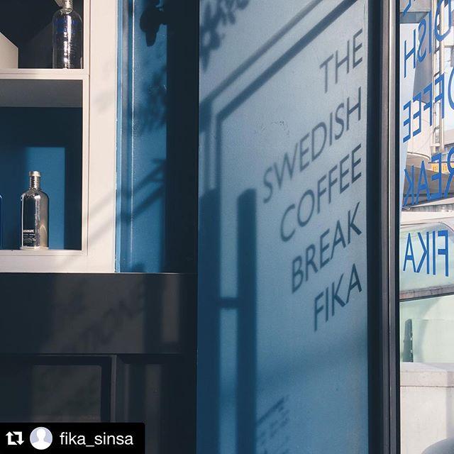 오늘처럼 추운 날씨엔 따뜻한 피카로 오세요!❄️😌😌 #피카 #가로수점 #가로수길맛집 #가로수길카페 #fika #blue #swedish