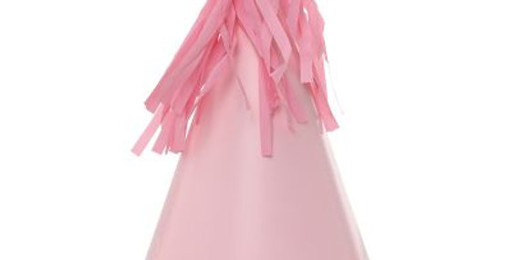Paper Party Hat with Tassel Topper - Pink (P10)