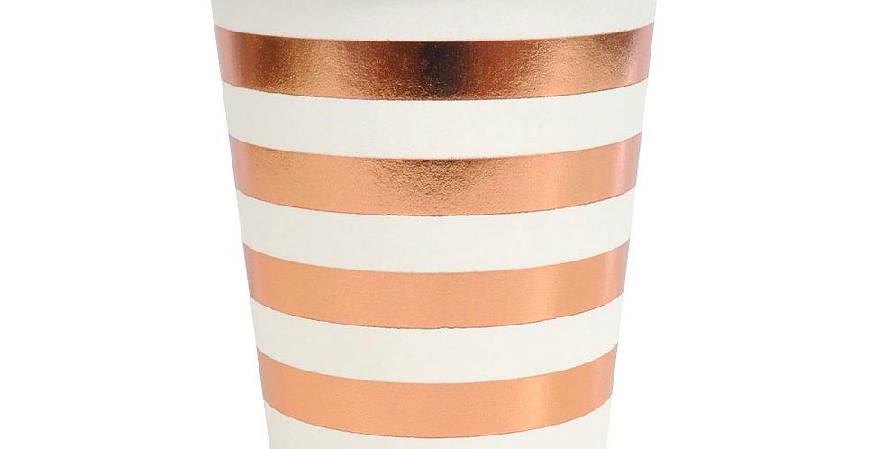 Rose Gold Stripes Cup (P10 - 300ML) - ILLUME