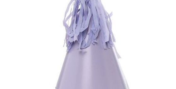 Paper Party Hat with Tassel Topper - Purple (P10)