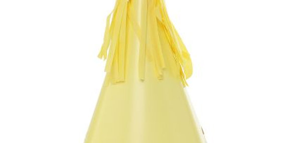Paper Party Hat with Tassel Topper - Yellow (P10)