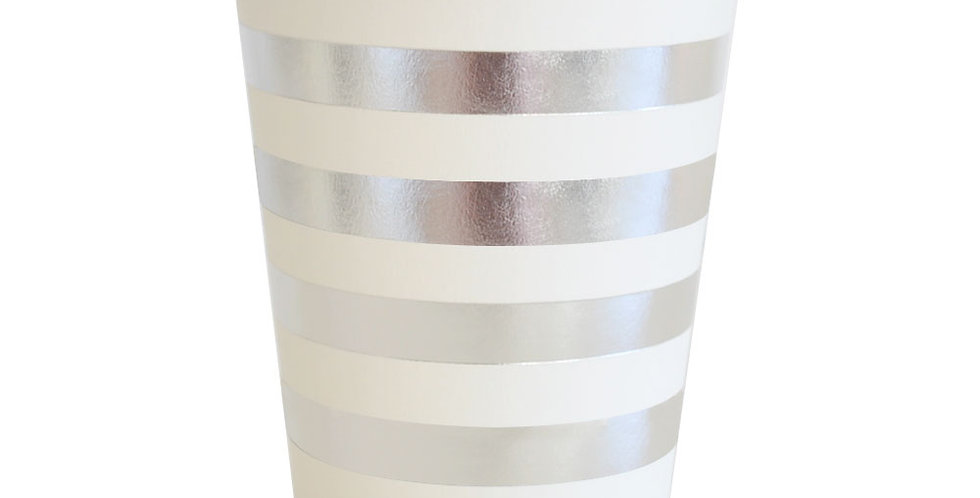 Silver Stripes Cup (P10 - 300ML) - ILLUME