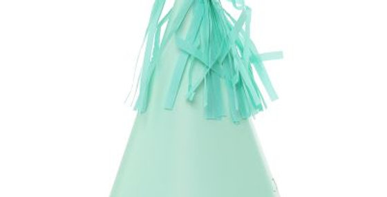 Paper Party Hat with Tassel Topper - Mint Green (P10)
