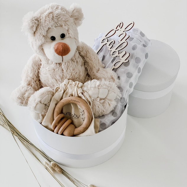 Ashy Bear Nappy Box