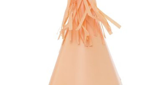 Paper Party Hat with Tassel Topper -Peach (P10)