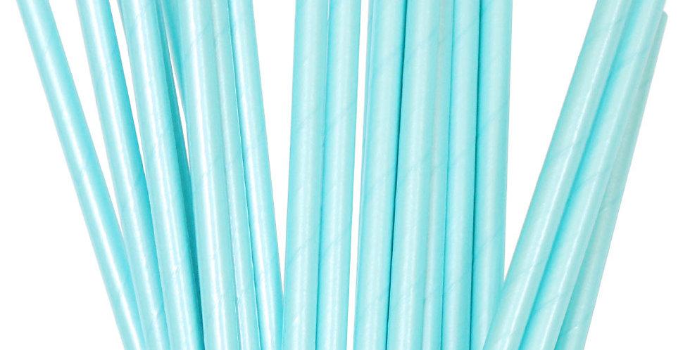 Paper Straws Blue Foil (P25) - ILLUME