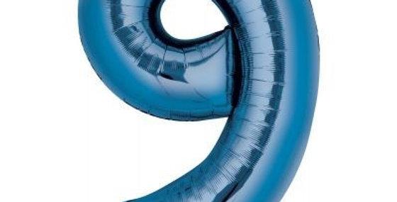 Blue Foil Balloons