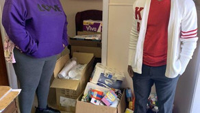 Bro Michael Barlow presented supplies to the Crisis Assistance Response Emergency (CARE) Shelter