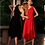 Goen.J One-shoulder crepe dress