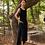 Goen.J Asymmetric pleated dress - Black