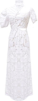 Sid Neigum Gathered Cut-out Dress