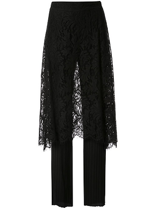 Goen.J Corded Lace Skirt Layered Flare Pants