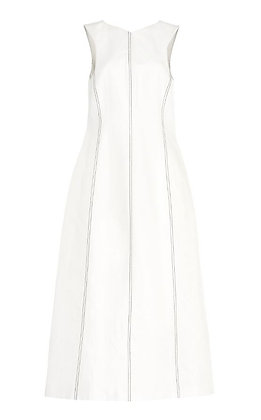 Low Classic Stitch Sleeveless Dress - White