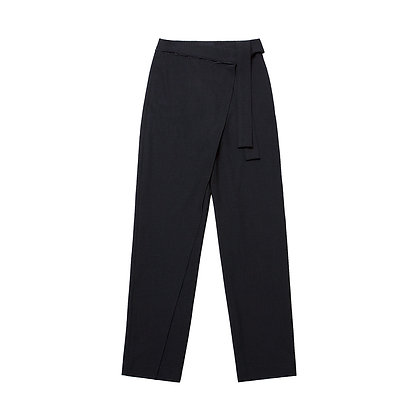 Andersson Bell Emma Wrap Tapered Pants - Black