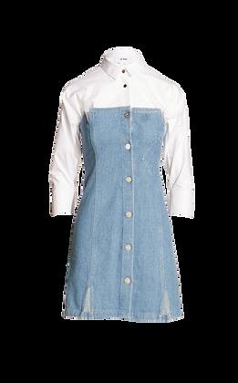 JI OH Denim Bustier Dress