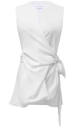 Beaufille Crepe Blouse - White
