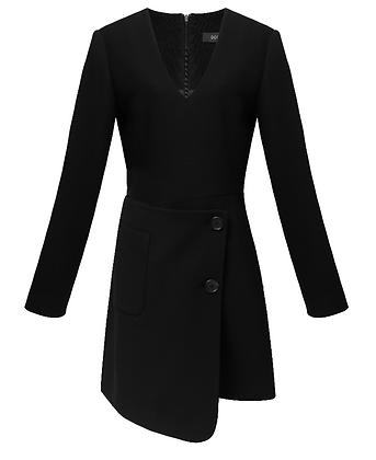 Goen.J Asymmetric wool blazer dress
