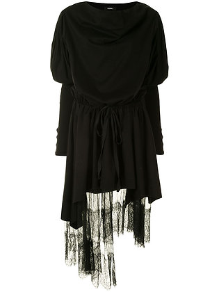 Goen.J Lace Trim Layered Dress