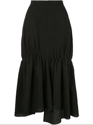 Goen.J Asymmetric flared skirt - Black