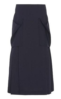 Low Classic Pleats Pocket Detail Skirt