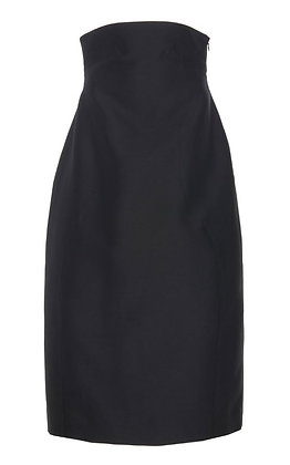 Low Classic Curve Line Volume Skirt - Black