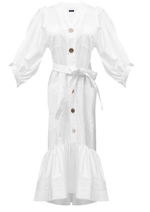 Eudon Choi Grain Dress B - White