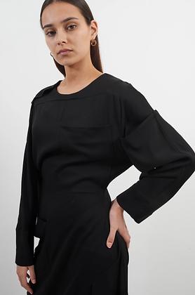 Modus Long Sleeve Button Up Dress