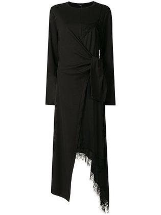 Goen.J Lace-trimmed Layered Dress - Black