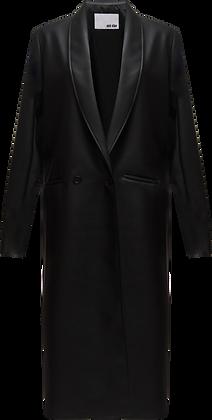 Each x Other Vegan Leather Shawl Collar Coat