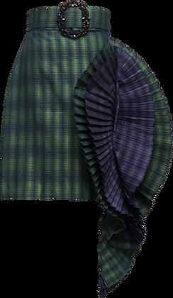 Nadya Dzyak Green plaid mini-skirt