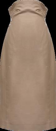Low Classic Curve Line Volume Skirt - Beige