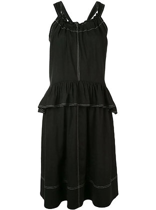 Goen.J Shoulder strap ruffled dress
