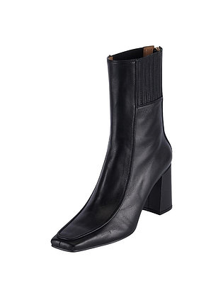 Reike Nen Piping Patterned Boots - Black