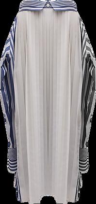 The Keiji Convertible Pleated Stripe Shirt Skirt